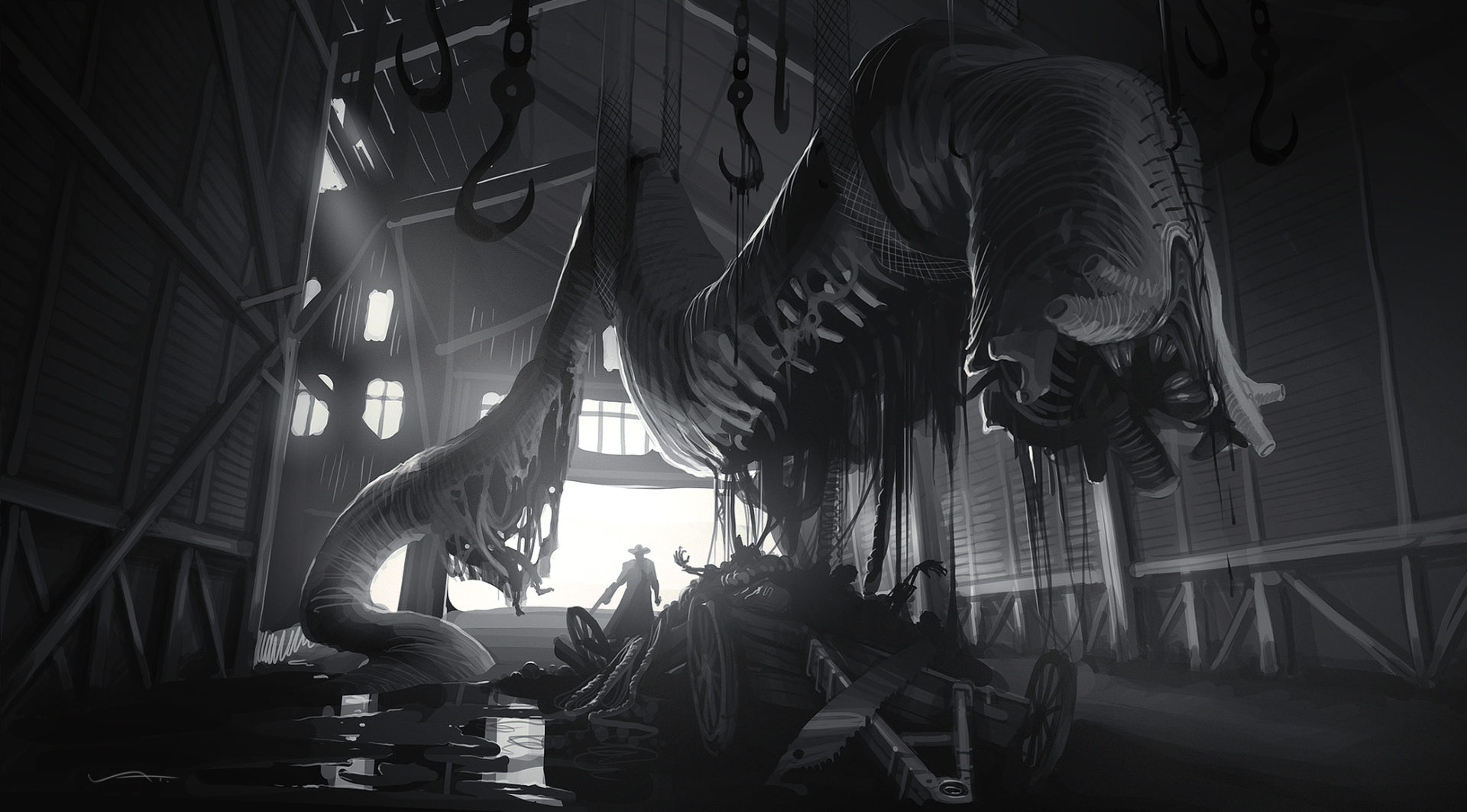 История развития монстра Водяной Дьявол в игре Hunt: Showdown