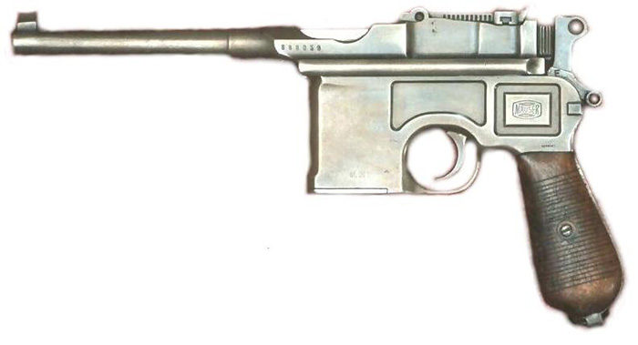 Пистолет Mauser C96 под патрон 7.63x25 mm Mauser.