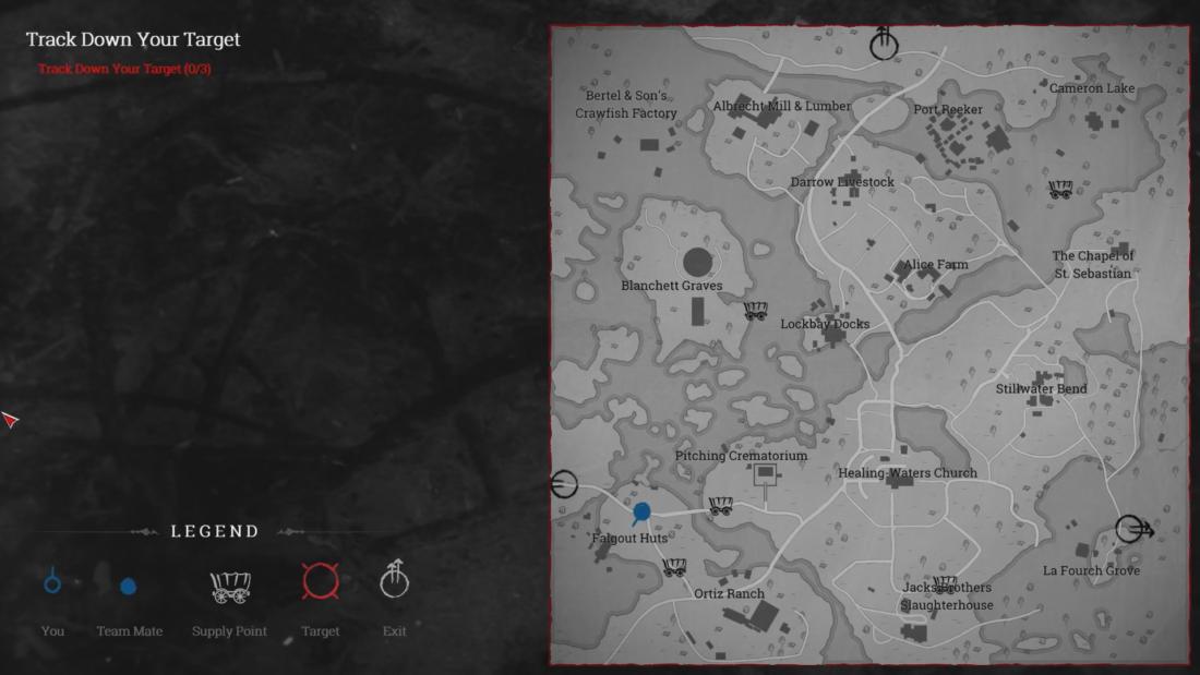 Карта игрового мира Hunt: Showdown на закрытой альфе