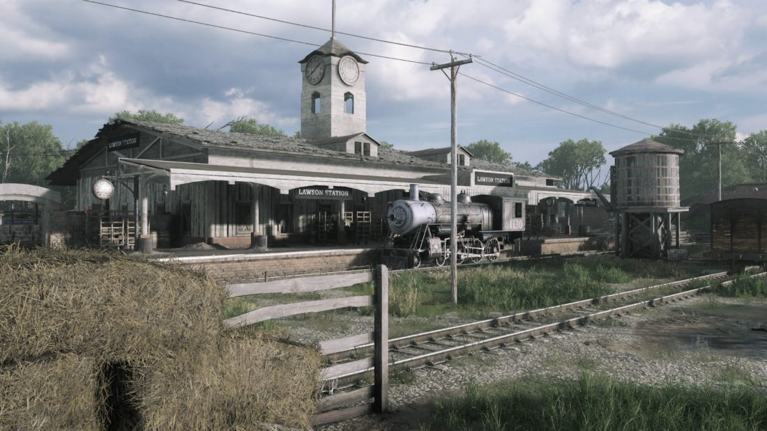 Железно-дорожная станция на карте Lawson Delta