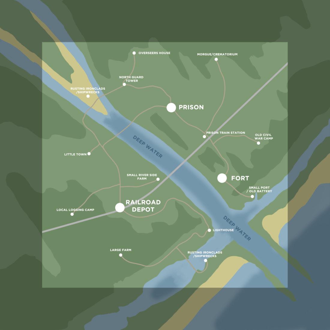 Один из многих вариантов карты Lawson Delta для Hunt: Showdown