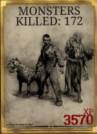 Общее количество убитых монстров