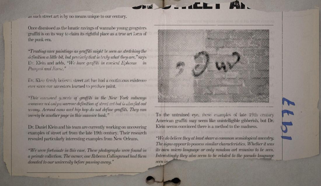 Заметка о нью-йоркском граффити