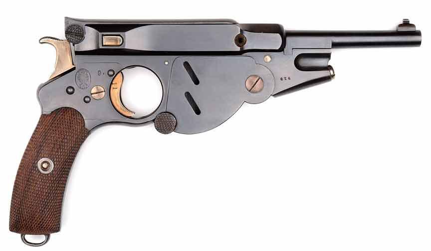 Самозарядный пистолет Бергманн №3 образца 1986 года под патрон 6.5 mm Bergmann