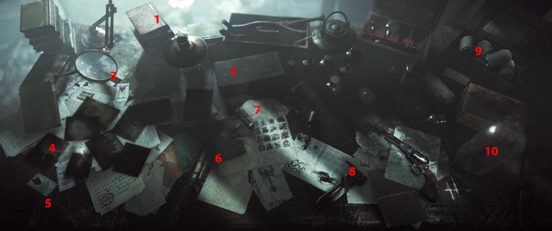 Что находится на рабочем столе охотника в Hunt: Showdown