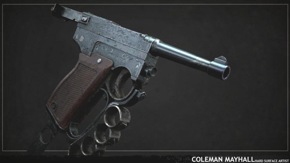 "Пистолет Glisenti 1910 ""Angel Duster"" от фаната игры Hunt: Showdown"