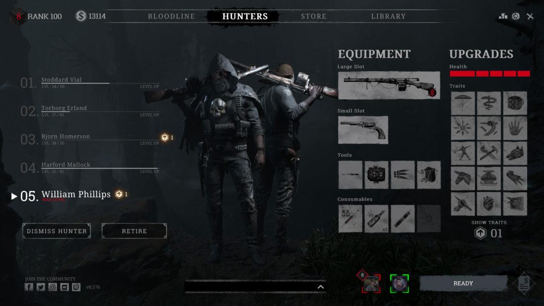 Два охотника на экране настройки