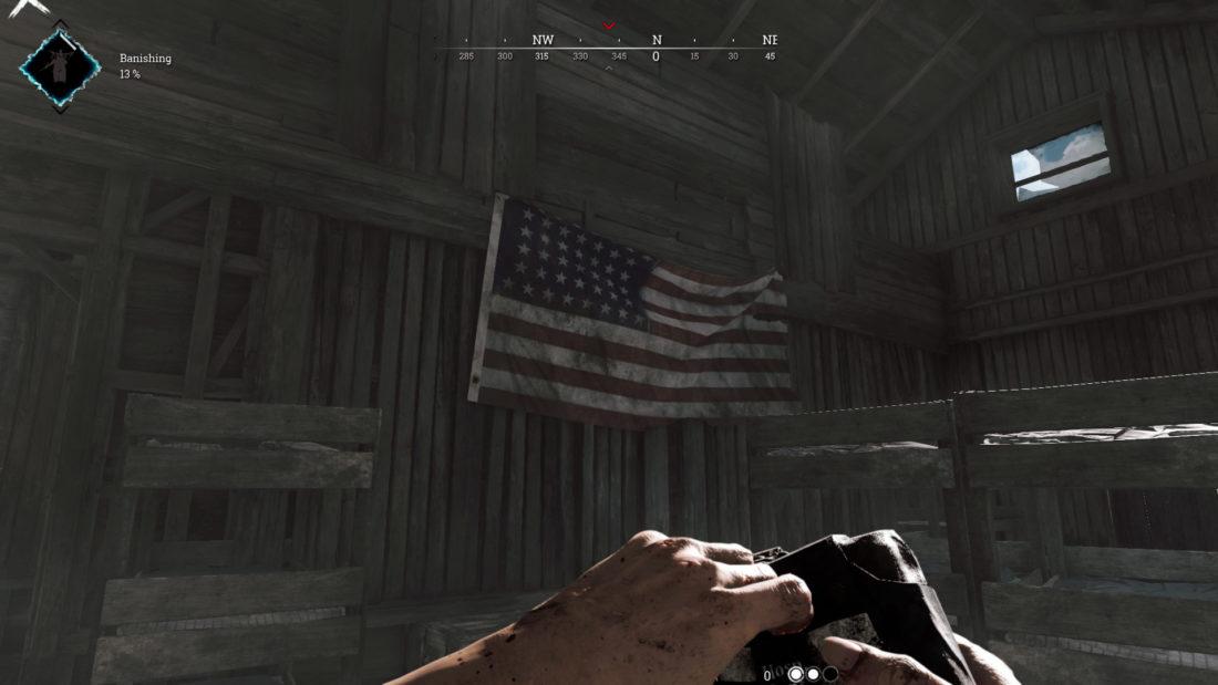 Флаг США на Maw Battery