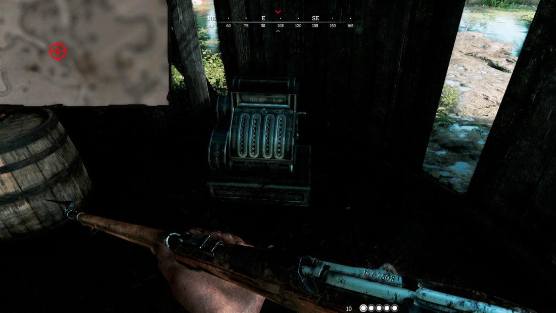 Кассовый аппарат на Scupper Lake в башне с лестницей