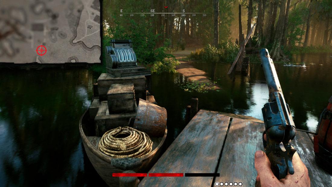 Кассовый аппарат на Alain & Son`s Fish в лодке
