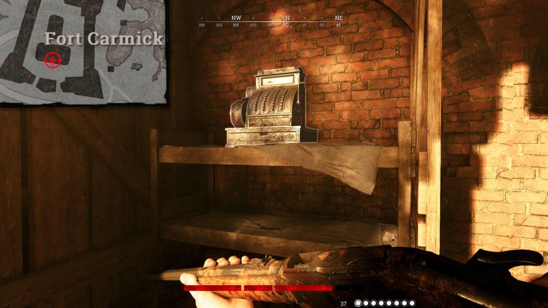 Кассовый аппарат на Fort Carmick в башне