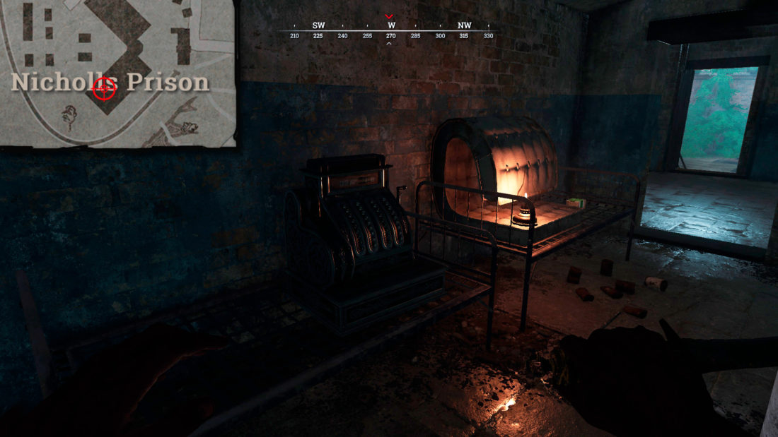 Касса на 1-м этаже Nicholls Prison