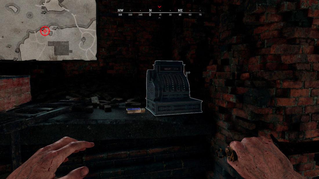 Кассовый аппарат на Pitching Crematorium у входа в логово по деревянной лестнице