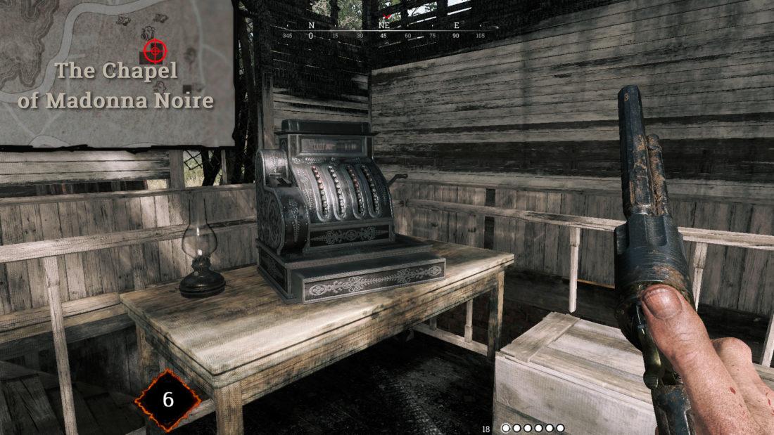Кассовый аппарат на первом этаже The Chapel of Madonna Noire