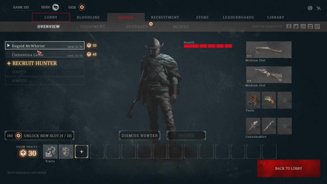 Список охотников в Hunt: Showdown