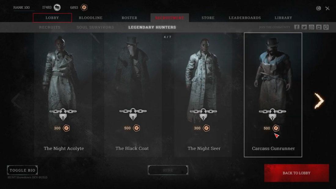 Рекрутинг в Hunt: Showdown