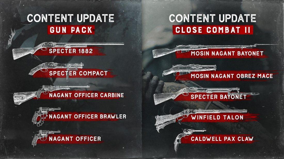 Контентные обновления Gun и Close Combat II для Hunt: Showdown на XBOX