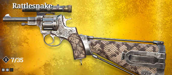 Легендарное оружие в Hunt: Showdown. Rattlesnake для Nagant M1895 Deadeye