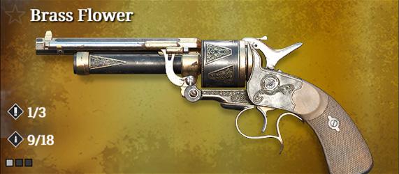 Легендарное оружие в Hunt: Showdown. Brass Flower для LeMat Mark II