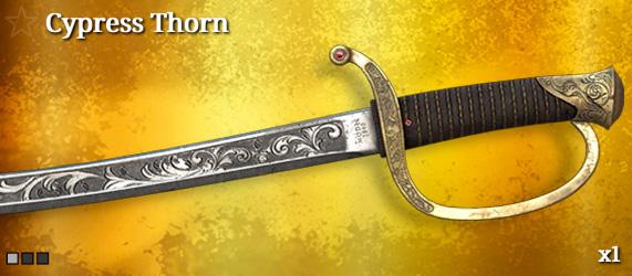 Легендарное оружие в Hunt: Showdown. Cypress Thorn для Cavalry Saber