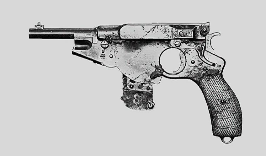 """Пистолет Bornheim No. 3 Extended. Изображение из """"Книги оружия"""""""