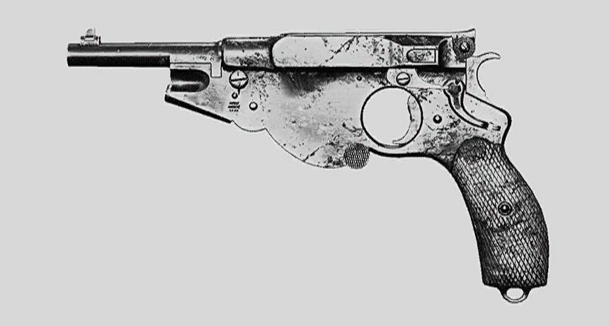 """Пистолет Bornheim No. 3. Изображение из """"Книги оружия"""""""
