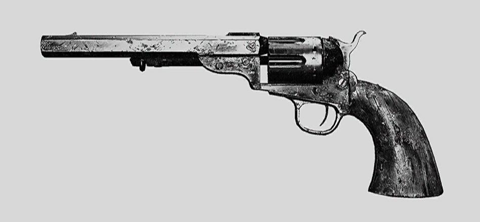 """Револьвер Caldwell Conversion Pistol. Изображение из """"Книги оружия"""""""