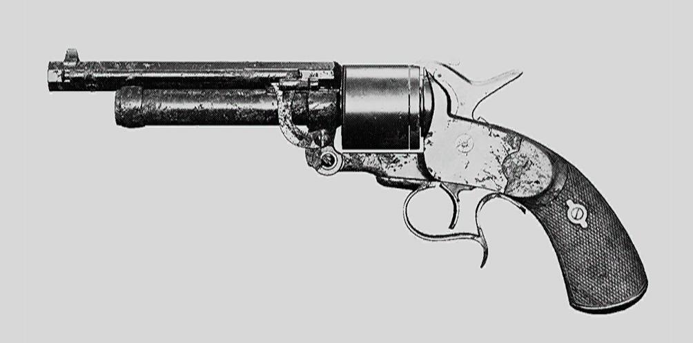 """Револьвер LeMat Mark II. Изображение из """"Книги оружия"""""""