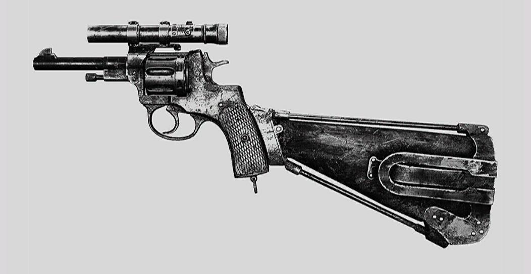 """Револьвер Nagant M1895 Deadeye в Hunt: Showdown. Изображение из """"Книги оружия"""""""