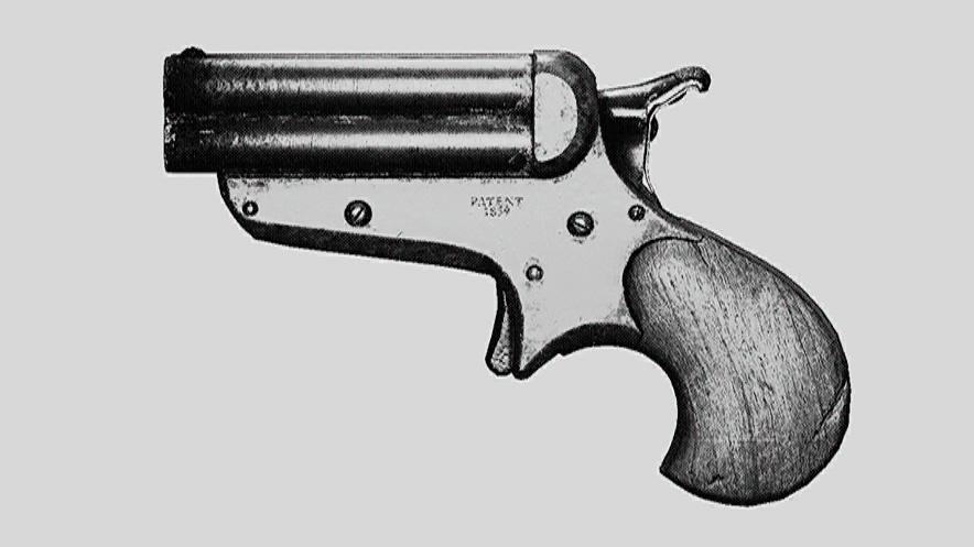 """Пистолет Quad Derringer. Изображение из """"Книги оружия"""""""