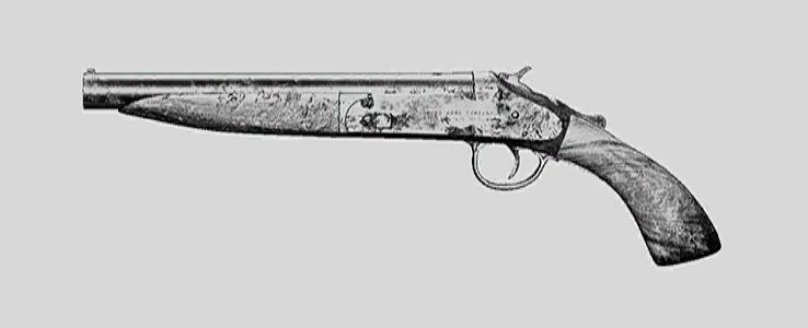 """Дробовик Romero 77 Handcannon в Hunt: Showdown. Изображение из """"Книги оружия"""""""