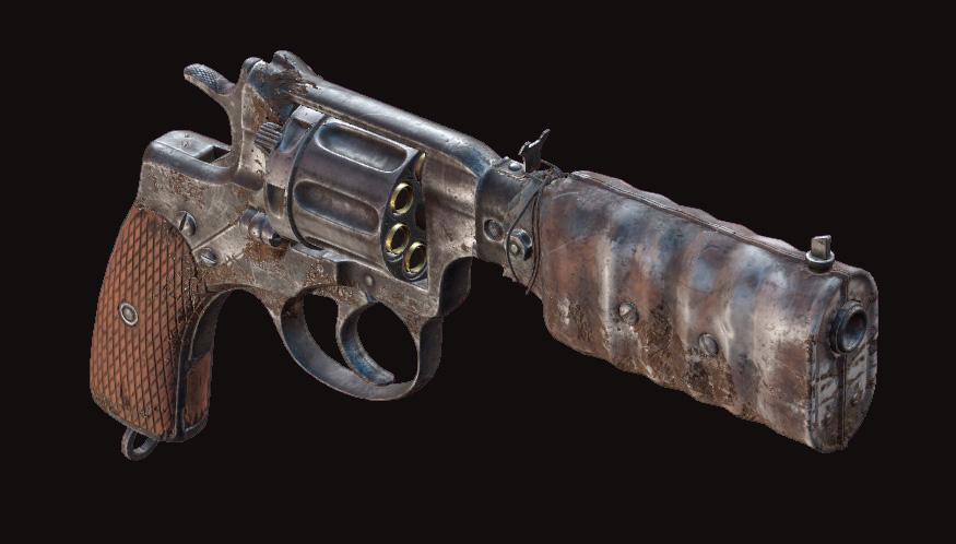Револьвер Nagant M1895 Silencer в Hunt: Showdown