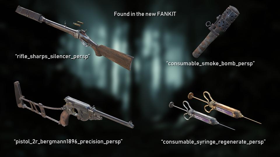 пользователь выложил обнаруженные в фанките изображения нового снаряжения. Я нашел там только 2 новых арбалета.