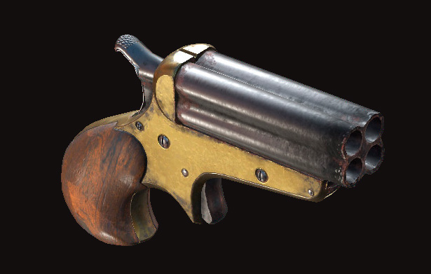 Пистолет Quad Derringer.
