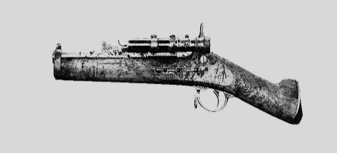 "Винтовка Springfield 1866 Compact Deadeye в Hunt: Showdown. Изображение из ""Книги оружия"""