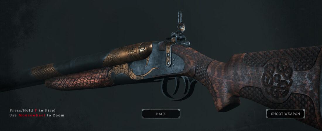 Легендарное оружие Black Mamba (Nitro Express Rifle) в игре Hunt: Showdown