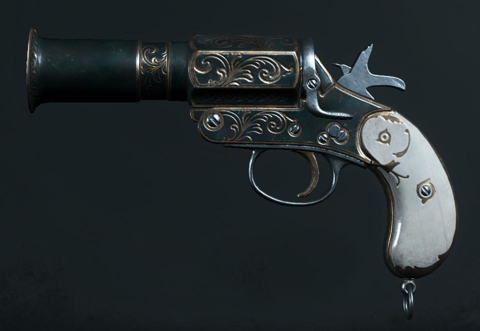 Легендарное оружие Rising Sun (Flare Pistol) в Hunt: Showdown