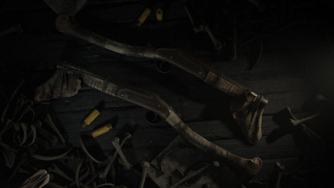 Легендарное оружие Scapula (Romero 77 Hatchet) в игре Hunt: Showdown