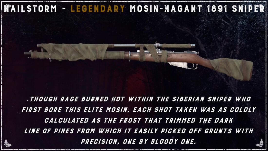 Легендарный облик Hailstorm для Mosin-Nagant M1891 Sniper