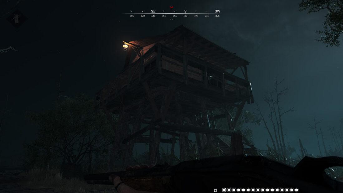 Сторожевая башня между Fort Karmick и Sweetbell Four. Кстати, на верхнем уровне может встречаться и кассовый аппарат.