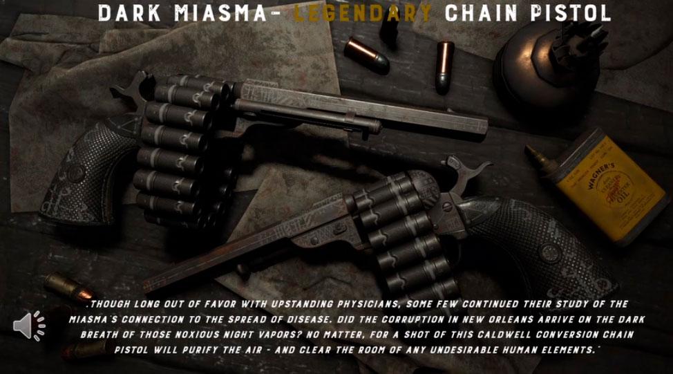 Легендарный облик Dark Miasma для револьвера Caldwell Conversion Chain Pistol
