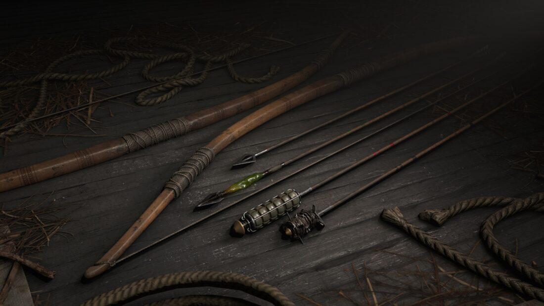 Охотничий лук с вариантами стрел